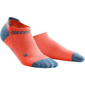 cep No Show Socks 3.0 Mujer, coral/grey